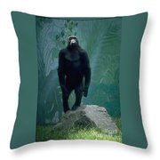 Gorilla Rock Throw Pillow