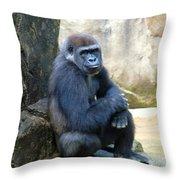 Gorilla Smile Throw Pillow