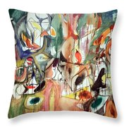 Gorky's One Year The Milkweed Throw Pillow