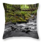 Gorton Creek Bridge Throw Pillow