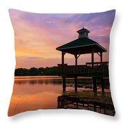 Gorton Pond Sunset Warwick Rhode Island Throw Pillow