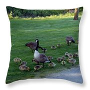 Gosling Daycare  Throw Pillow