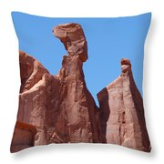 Gossips At Arches National Park Throw Pillow