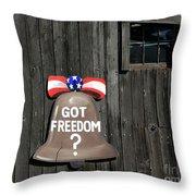 Got Freedom Throw Pillow