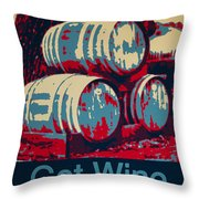 Got Wine Blue Throw Pillow