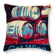 Got Wine Red Throw Pillow