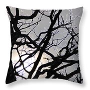 Goth Tree Throw Pillow