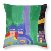 Gotham Heroes  Throw Pillow by Don Larison