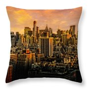 Gotham Sunset Throw Pillow