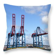 Gothenburg Harbour 12 Throw Pillow