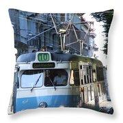 Gothenburg Tram 01 Throw Pillow