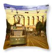 Gothenburg Tram 04 Throw Pillow