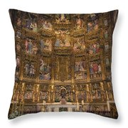 Gothic Altar Screen Throw Pillow by Joan Carroll