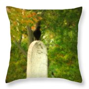 Gothic Autumn Throw Pillow