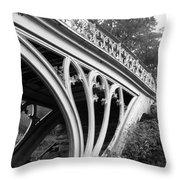 Gothic Bridge Design Throw Pillow