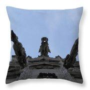 Milan Gothic Cathedral Gargoyles Throw Pillow