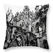 Gothic Cathedral Of Den Bosch Throw Pillow by Carol Groenen