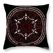 Gothic Celtic Mermaids Throw Pillow