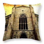 Gothic Church Cathedral Photograph Throw Pillow