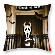 Gothic Church Sentinel Throw Pillow