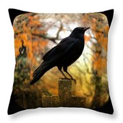Gothic Fish Eye Throw Pillow