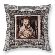 Gothic Gaze Throw Pillow