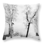 Gothic Lullaby Throw Pillow