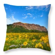 Gothic Meadow Throw Pillow