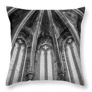 Gothic Monastery Throw Pillow