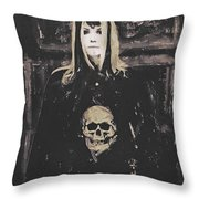 Gothic Motivational Throw Pillow