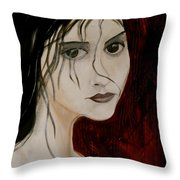 Gothic Portrait Of Woman Painting Throw Pillow