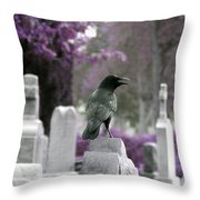 Gothic Purple Throw Pillow