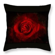 Gothic Red Rose Throw Pillow