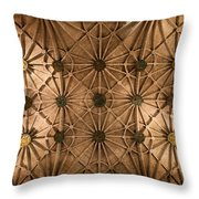Gothic Ribbed Vault Of Jeronimos Monastery Church Throw Pillow
