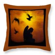 Gothic Silhouette Throw Pillow
