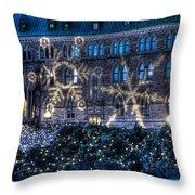 Gothic Snowflakes Throw Pillow