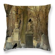 Gothic Splash Throw Pillow