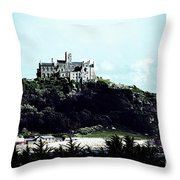 Gothic St Michael's Mount Cornwall Throw Pillow