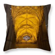 Gothic Vault Of The Seville Cathedral Throw Pillow