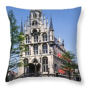 Gouda City Hall Throw Pillow