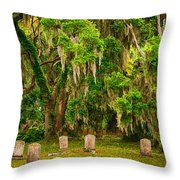 Gould's Cemetery Throw Pillow
