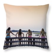 Goulds Creek Girls Throw Pillow