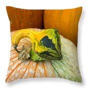 Gourd Pair Throw Pillow