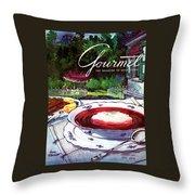 Gourmet Cover Featuring A Bowl Of Borsch Throw Pillow