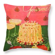 Gourmet Cover Illustration Of A Molded Rice Throw Pillow