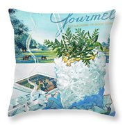 Gourmet Cover Illustration Of Mint Julep Packed Throw Pillow