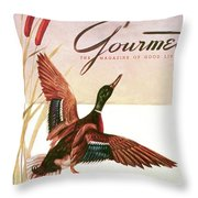 Gourmet Cover Of A Goose Throw Pillow