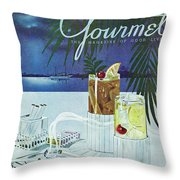 Gourmet Cover Of Cocktails Throw Pillow