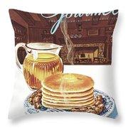 Gourmet Cover Of Pancakes Throw Pillow