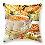 Gourmet Cover Of Pumpkin Soup Throw Pillow